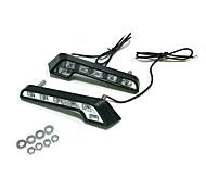 Xenon-Weiß 7000K 6 LEDs Jedes Stück & 1W Jede LED Auto Tagfahrlicht