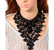 Necklace Choker Necklaces / Collar Necklaces / Statement Necklaces / Vintage Necklaces Jewelry Wedding / Party Fashion Lace Black 1pc Gift