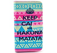 Crown Keep Calm and Hakuna Matata Pattern Full Body Case with Card Slot for HuaWei Y300