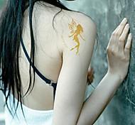 2Pcs Angel Gold Glitter Tattoo Stickers Temporary Tattoos