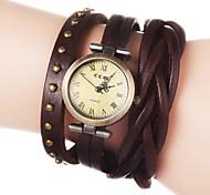 Women's Vintage Long Strap Style Leather Band Quartz Analog Bracelet Watch (Assorted Colors) Cool Watches Unique Watches