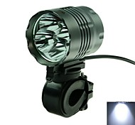 3-Mode  4 x Cree XM-L T6 White Light Cycling Bicycle Headlamp (3000lm, 6 x 18650)