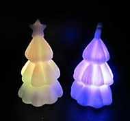 Projeto da árvore de natal noite plástico leve (x1pcs cor aleatória)