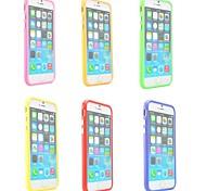 TPU marco de parachoques para el iphone 6 (colores surtidos)
