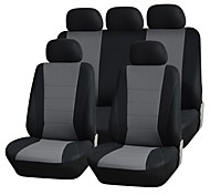 9 PCS Set Car Seat Covers Universal Fit Material Type Polyester  Protection Seat Cleaning Auto Accessories