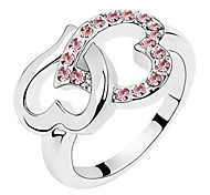 Beautiful Shape Fashion Love Diamonds Shine Beautiful Lady Ring Gift
