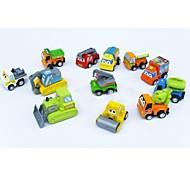 12 x auto giocattolo di plastica sveglia li tirare indietro e guardare andare