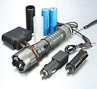 LED Flashlights/Torch / Handheld Flashlights/Torch LED 5 Mode 1000/1200/2000 LumensAdjustable Focus / Waterproof / Rechargeable / Nonslip