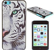 Royal White Tiger Pattern PC Hard Case for iPhone 5C
