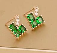 Love Is You Elegant Green Zircon Earrings
