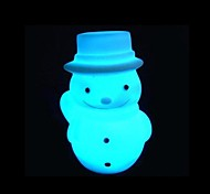 Christmas  Snowman Design  Plastic  Night Light (Random Color x1pcs)