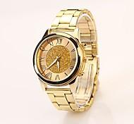Frauen römische Skala echten Farbwahl-Goldband-Quarz-analoge Uhr mit eleganter Mode