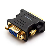 Hight Speed DVI 24+5 Male to VGA15 Female Black Adapters