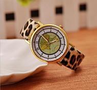 coringa mapa do mundo clássico das mulheres, literalmente, relógios de leopardo