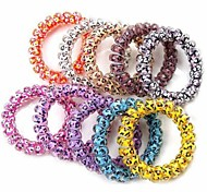 The New Fashion Printing Telephone Line Candy-Colored Elastic Hair Ties Random Color