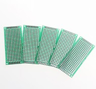 Double-sided 2.54mm Pitch PCB  3 x 7cm Protoboard - Green (5pcs)