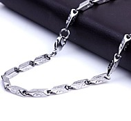 Z&X®  Men's Fashion  Personality Very Long Gecko Pattern Titanium Steel Necklaces