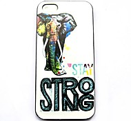 Strong Elephant Pattern Hard Case for iPhone 4/4S