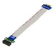 PCI-E 1x maschio a 1x cavi di prolunga femmina (20cm)