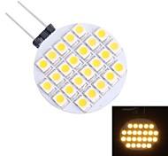 g4 1.5w 110lm 3500K 24x3528 blanc chaud Ampoule LED (12V DC)