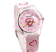 WILLIS® Pink Heart Analog Quartz Wrist Watch