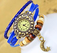 Women's Fashion Crescent curved Leather Bracelet Watch(assorted colors)