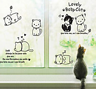 Doudouwo® Animals Lovely Baby Cat Wall Stickers