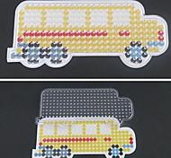 1pcs Vorlage klar pegboard gelben Schulbus Muster für 5mm Hama Perlen Bügelperlen DIY Puzzle