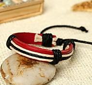 Lureme®Simple Style  Adjustable Leather Bracelet