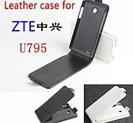 vendita calda cassa di cuoio dell'unità di elaborazione del cuoio di vibrazione 100% per ZTE u795 su e giù per smartphone a 3 colori