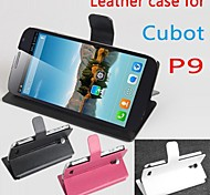 Hot Sale 100% PU Leather Flip Leather Case for Cubot p9 Left to Right Smartphone 3-color