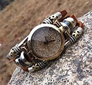 Women's High Quality Diamond Leather Quartz Movement Bracelet Watches