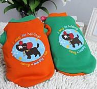 glückliche Hunde Muster verdicken Baumwolle T-Shirt für Hunde (multicolor verschiedenen Größen)