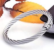 Men's Fashion Personality Titanium Steel Opening Bracelets