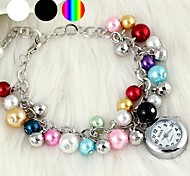Fashionable Women's Pearl Bracelet Watch (1Pc)(Assorted Colors)