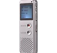 8g mp3 profissional de alta definição de voz digital gravador ditafone prata