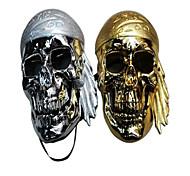 Halloween Tricky People Skeleton Head Grimace Mask(Random Color)