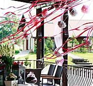 5-Zoll-Papierblume Partydekorationen - von 4 (mehr Farben)