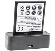 High Capacity 3.7V 2500mAh Batteries and Batteries Charger for Samsung Galaxy S3 i9300