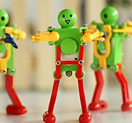 Spring Yellow Green Red Dancing Robot Wind-Up Toys