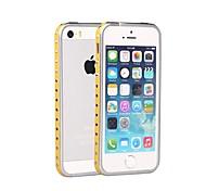 ShenGo™ Rivets Punk Style With Leather Strips Inlaid Metal Bumper  for iPhone 5/5S (Assorted Colors)