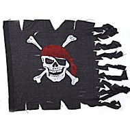 Horror Party Black Pirates Flag Hallween Accessory