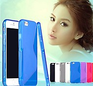 S Shape Solid Color TPU Soft Case with Stylus for iPhone 6/6S(Assorted Color)