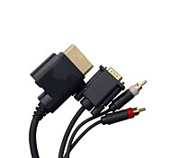 HD Video Audio HDTV RCA AV VGA Cable Cord for Microsoft Xbox 360 Console