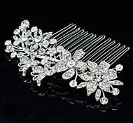 8.6cm Rhinestone Hair Comb Tiara Wedding Bridal Jewelry for Party