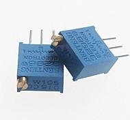 3296 Potentiometer 1Mohm Adjustable Resistors - Blue (10 PCS)