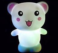 comodo oso feliz de color llevado lámpara de noche