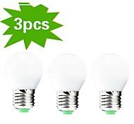 H+LUX™ Lâmpada Redonda Decorativa E26/E27 6 W 400 LM 2700K K Branco Quente 30 SMD 3022 3 pçs AC 220-240 V G