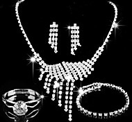 Jewelry-Necklaces / Earrings / Rings / Bracelets & Bangles(Alloy / Rhinestone)Wedding / Party / Daily / Casual Wedding Gifts