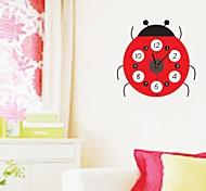 ZOOYOO® Electronic battery timekeeper DIY colorful coccinella septempunctata shape wall clock wall sticker home decor
